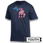 Champion University of Michigan Youth ''State of Michigan'' Americana Tee