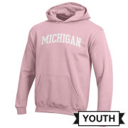 Champion University of Michigan Youth Pink Hooded Sweatshirt