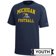 Champion University of Michigan Football Youth Navy Tee