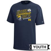 Champion University of Michigan Football 2020 Citrus Bowl Youth Navy Tee