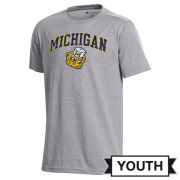 Champion University of Michigan Youth Gray College Vault Wolverine Field Day Tee