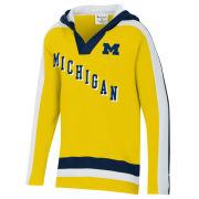 Champion University of Michigan Hockey Youth Yellow Heritage Hooded Sweatshirt