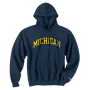 Champion University of Michigan Youth Navy Basic Hooded Sweatshirt