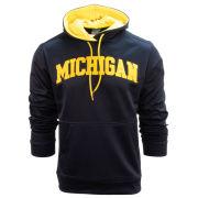 Knights Apparel University of Michigan Navy Tackle Twill Performance Hooded Sweatshirt