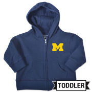 College Kids University of Michigan Toddler Navy Full Zip Hooded Sweatshirt