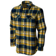 Columbia University of Michigan Flare Gun Flannel Button Down Shirt