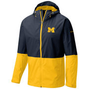 Columbia University of Michigan Navy/Yellow Roan Mountain Waterproof Jacket