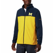 Columbia University of Michigan Navy/Yellow Full Zip Flanker Fleece Jacket