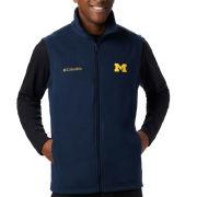 Columbia University of Michigan Navy Full Zip Flanker Fleece Vest