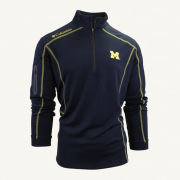 Columbia University of Michigan Navy Shotgun 1/4 Zip Pullover