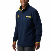 Columbia University of Michigan Navy PFG Harborside Fleece Pullover Jacket
