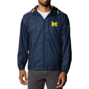 Columbia University of Michigan Navy Flash Forward Full Zip Windbreaker Jacket
