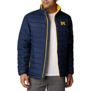 Columbia University of Michigan Navy Powder Lite Full Zip Jacket