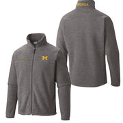 Columbia University of Michigan Gray Full Zip Flanker Fleece Jacket