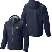 Columbia University of Michigan Navy EvaPOURation Waterproof Jacket