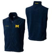 Columbia University of Michigan Navy Flanker Fleece Vest