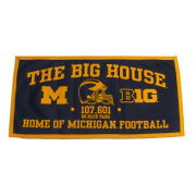 Collegiate Pacific University of Michigan ''The Big House'' Felt Banner