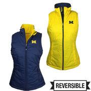 Columbia University of Michigan Ladies Reversible Powder Puff Vest