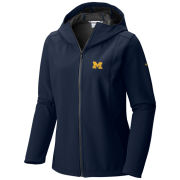 Columbia University of Michigan Women's Kruser Ridge Softshell Hooded Jacket
