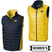 Columbia University of Michigan Women's Lake 22 Down Reversible Vest