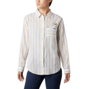 Columbia University of Michigan Women's White ''Sun Drifter'' Long Sleeve Button-Up Shirt