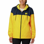 Columbia University of Michigan Women's Navy/Yellow Flash Forward Lined Windbreaker Jacket