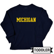 College Kids University of Michigan Toddler Navy Long Sleeve Thermal Tee