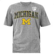 289c University of Michigan Football Gray Advocare Classic Badge Tee