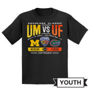 289c University of Michigan Football Youth Black Advocare Classic ''Clash'' Tee