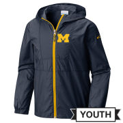 Columbia University of Michigan Youth Navy Flashback Full Zip Windbreaker Jacket