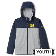 Columbia University of Michigan Youth Navy/Gray Rain-Zilla Jacket