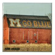 University of Michigan ''Go Blue Barn'' Coaster
