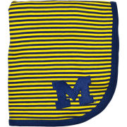 Creative Knitwear University of Michigan Navy/Yellow Striped Baby Blanket