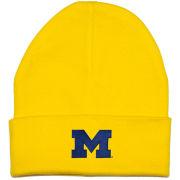 Creative Knitwear University of Michigan Newborn Infant Yellow Cuffed Knit Hat