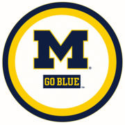 Mayflower Distributing University of Michigan 7'' Paper Party Plate [12 Count]