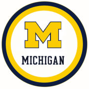 Mayflower Distributing University of Michigan 9'' Paper Party Plate [10 Count]