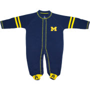 Creative Knitwear University of Michigan Infant Navy Sport Shoe Footed Romper