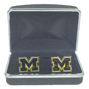 CSI University of Michigan Block M Cufflinks