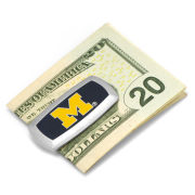 Cufflinks Inc. University of Michigan Cushion Block ''M'' Logo Money Clip