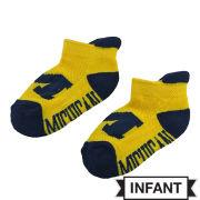 Donegal Bay University of Michigan Infant Yellow ''Michigan'' Socks