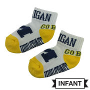 Donegal Bay University of Michigan Infant White ''Go Blue'' Socks
