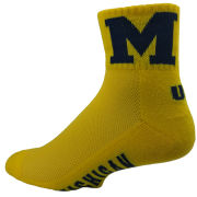 Donegal Bay University of Michigan Yellow 1/4 Crew Socks