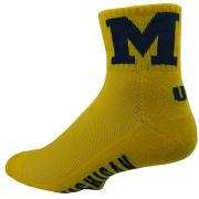 Donegal Bay University of Michigan Yellow 1/4 Crew Socks