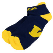 Donegal Bay University of Michigan Navy Short Sock