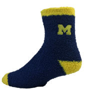 Donegal Bay University of Michigan Navy Fuzzy Anklet Socks