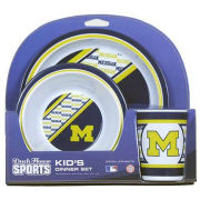 Duck House University of Michigan Kid's Melamine Dinner Set