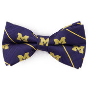 Eagles Wings University of Michigan Woven Oxford Bow Tie [Pre-Tied]