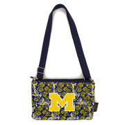 Eagles Wings University of Michigan Quilted Bloom Cross Body Purse