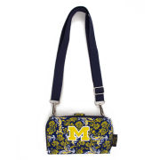 Eagles Wings University of Michigan Quilted Bloom Cross Body Wallet