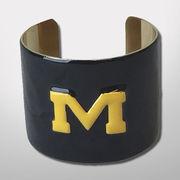 Emerson Street University of Michigan Navy Enameled Cuff Bracelet
